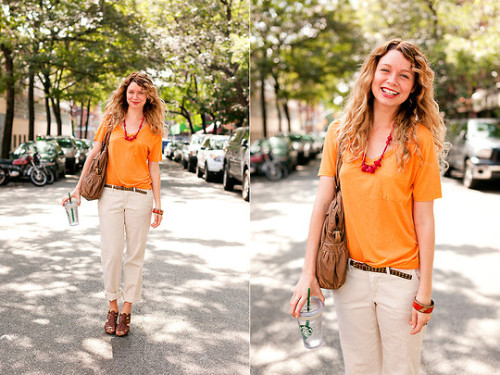 sugardarlingvintage:  Orange BANG! (by Sugar Darling)  My wife is pretty cute.