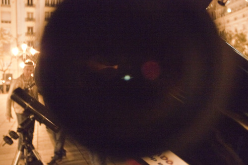 Saturn through the telescope eye. :)