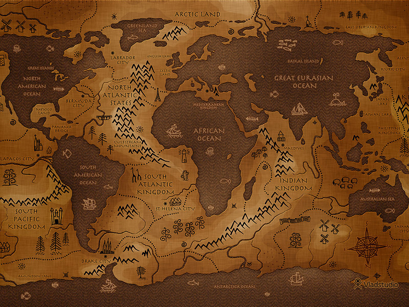 neverwhyonlywho:  theamericankid:  The Reverse Map of the World - If land masses dominated instead of water   best rpg ever