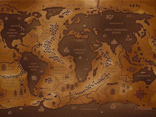 theamericankid:  The Reverse Map of the World - If land masses dominated instead of water
