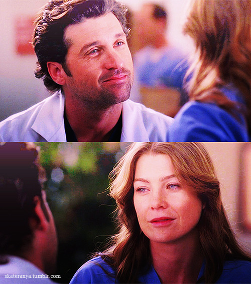 MEREDITH: Where do you sleep at the trailer?DEREK: What?MEREDITH: When we sleep at the trailer, where do you sleep?DEREK: You know the hammock outside? Sorry.MEREDITH: I'm a girl with abandonment issues. You have to sleep with me from now on.DEREK: OK.MEREDITH: OK.  3x11 Six Days (Part 1)