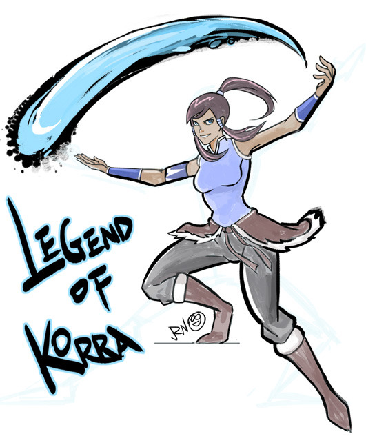 ruini:  Photoshop CS5 Made a doodle :) can't wait to see Legend of Korra !!