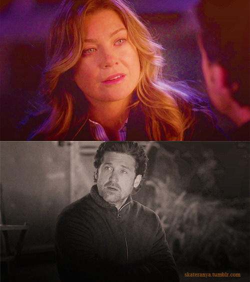 DEREK: Thanks for coming.MEREDITH: Thanks for calling.DEREK: l love you.MEREDITH: l know.DEREK: Would you still love me if l wasn't a surgeon?MEREDITH: No. No, because lzzie…has skin cancer that's spread to her brain. You're one of about 20 people in the world who can save her. l don't know if l respect somebody who could walk away from a gift like that. So please don't. Here are her scans. lt's pretty bad.  5x18 Stand By me