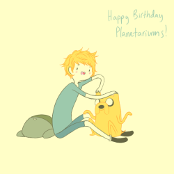 kathysbrotherssister:  happy birthday planetariums! i'm sorry this is so late, but here you go!  OHMYGOD. OHMYGOD. I GOT A DRAWING BY @kathysbrotherssister. I fucking love how adorable she draws!  THANKS SO MUCH HUN! ;3; THIS IS AMAZING!!!!