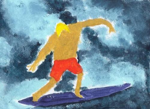 Andy Irons No. 1 (acrylic on canvas panel)
