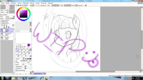Look at what I'm working on!! :3 It's My Little Pony but furry version? lol idk but im doing the 6 main characters and this is the first one, Twilight Sparkle!! :) Don't judge!!