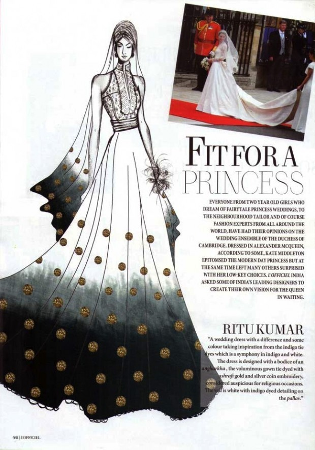 ritu kumar for the princess