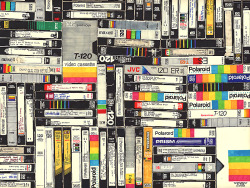 VHS, permanent marker on paper, 2010