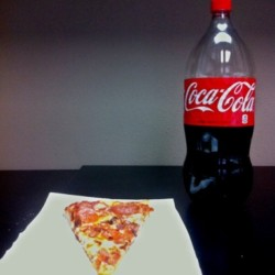 The Perfect Pair. #pizza #cocacola #photoforge2  (Taken with instagram)
