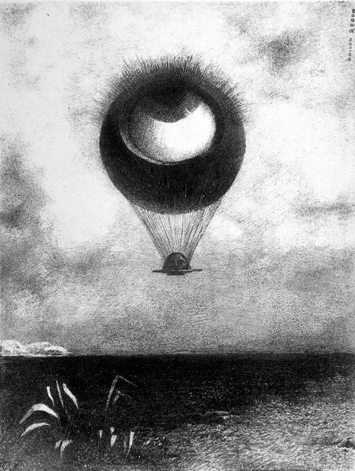 Odilon Redon, The eye, like a strange balloon