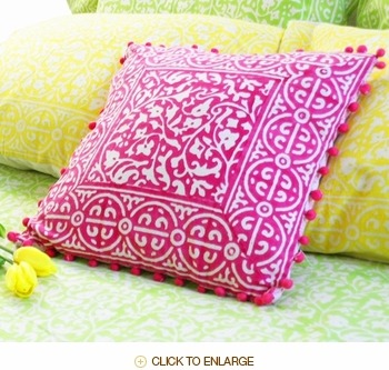 Try covering the existing pillows on your sofa with pillow covers in spectacular hues and patterns. Quick changes can make all of the difference and don't have to cost much. If you are the crafty type try to make these on your own.   Click the pic to find out more about the pillow covers featured here.   Friends of Tilonia, Inc. is a US-based, 501(c)3 non-profit organization established to provide marketing and business development assistance to the crafts section of the Barefoot College, in Tilonia, Rajasthan, India. For more than 35 years, the Barefoot College has been working to address basic needs of the rural poor: water, health, education, energy and employment while enrolling individuals in the processes that govern their lives.