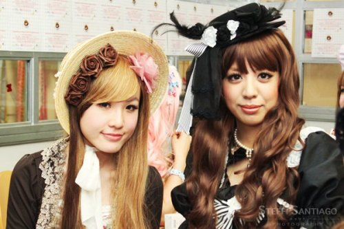 Me at the tea party with Kanon Wakeshima :D She was so lovely, a bit shy but she did say that the cameras makes her nervous sometimes.  Photo credit: Steffi Santiago