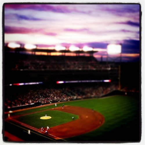 hugel:  Nats game (Taken with Instagram at Nationals Park) Go Nats!
