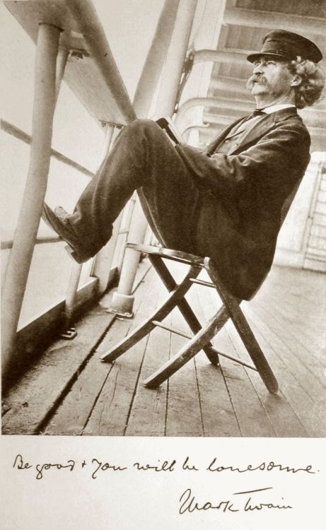 "chagalov:  Mark Twain, 1896 -by Walter G. Chase burnedshoes:  © Walter G. Chase, 1896 Read & find more images out of Mark Twains book ""Following the equator"" here."