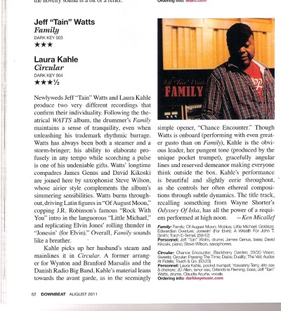 Double review in the August issue of Downbeat Magazine