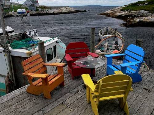 Coloured Chairs  by Ben Grozier