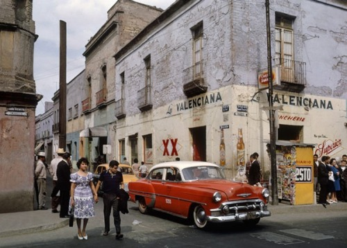 Mexico City with Chev, 1963 Fred Herzog