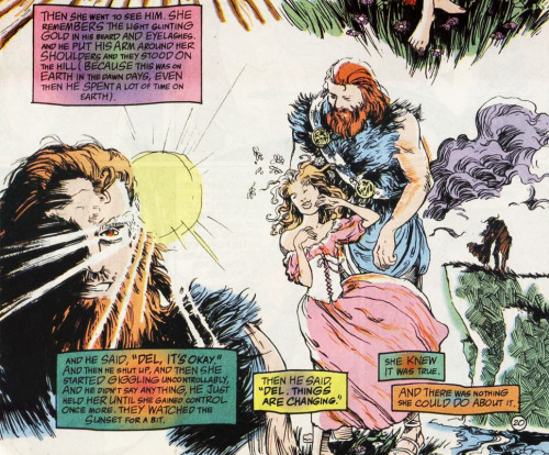 The Sandman comics - Delight and Destruction..