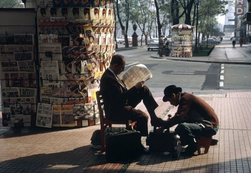 Mexico City Shoe Shine, 1963 Fred Herzog