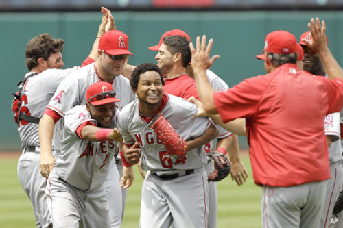 Angels hurler Ervin Santana threw a no hitter for the Los Angeles Angels of Anaheim on Wednesday July 27th, 2011. There was a strange twist however. A runner scored in the first inning due to a an error and a wild pitch. It was the 11th no hitter thrown in MLB history that the winning pitcher allowed a run. He was untouchable after that though. Pretty special day for him.