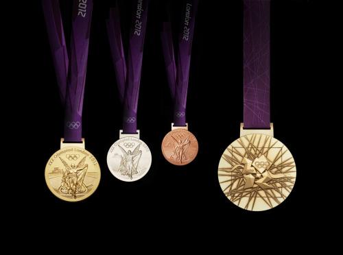 London 2012 medals. Looks nice… for once in their marketing life.