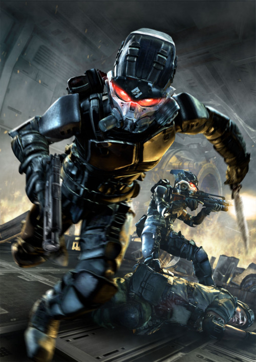 helghasttactician:  I'd be terrified to fight one of those guys. Elite Shock Troopers in action. They're hard to kill. I shot one three times in the head, and he still killed me.