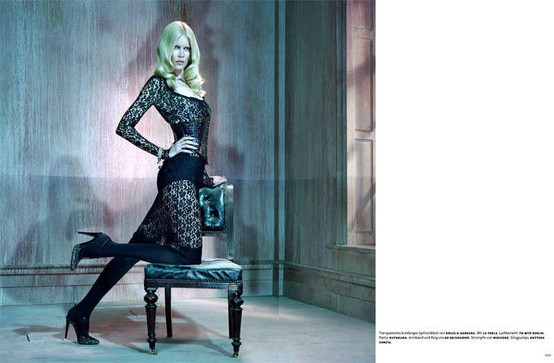 Claudia Schiffer for Vogue Germany August 2011.