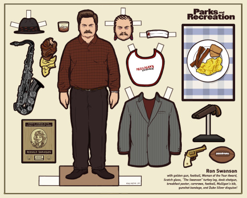 slacktory:  flannelanimal:  Doll #18Ron Swanson, Parks and Recreation As promised, a brand new Parks and Rec doll.  There were just too many great things to include, I had to leave a few for another time.    Kyle Hilton, maker of the Arrested Development dolls, is now making Parks and Rec and Breaking Bad dolls.