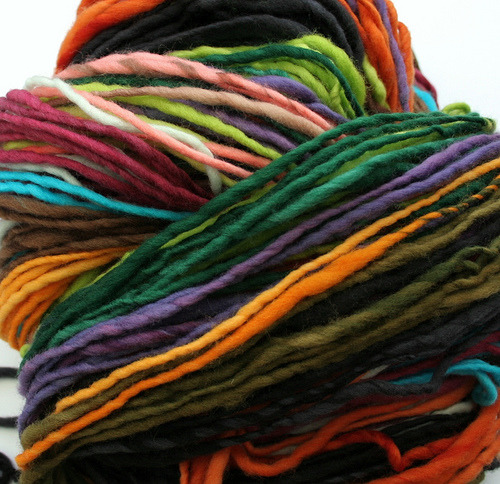 """self-striping yarn by hobbledehoy-liz, on Flickr"