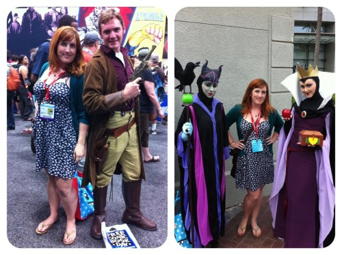 GPOYW: Comic Con edition. My favorites! I was so excited to see Captain Mal here. He went right into this pose and I mirrored as best I could. Too bad I wasn't dressed as Yosaffbridge. I also wish I'd talked to him more. He seemed pleased that I was a reasonably cute girl asking for a picture. Also: I'm hoping to rock this outfit myself next year. The evil queens. Clearly, this was necessary.