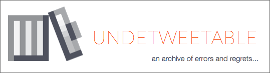 "Today we are launching undetweetable.com. It is a site that collects deleted tweets. Anyone can enter any twitter user in the database and it will start tracking their tweets that otherwise would have been deleted. The project was created over the summer by graduate student Bradley Griffith in MobileLab, a research group in the Emerging Media + Communication (EMAC) program at UT Dallas.Undetweetable is part art project, part curatorial effort, and part social media experiment. It's the first in a series of new experimental projects from the lab that explore explore issues of identity, pseudonymity/anonymity, data ownership, authorship, and privacy. These are areas Brad and I are both interested in, and undetweetable exposes some aspects of them for people to experience for themselves directly.The initial idea came from a desire to ""collect"" things on the Internet, exactly like a regular collector except things that could only be gathered online. For one year I ran a fictional character on twitter that had a small collection of such things, particularly things with emotional resonance. Collecting errors and regrettable outbursts seemed compelling, if somewhat nefarious (as was the character's nature). Then as I was thinking about data ownership and privacy the idea popped up again in discussions with Bradley Griffith. He liked it, took it on over the summer and did all the development that is now undetweetable.comAt launch we are letting it bounce against the world to see what happens. Part of me thinks it's an awful idea. Part of me thinks it will create a lot of interesting, even heated discussion (which  already happened in our very limited private release). As a creative project, it is in progress, and is released as is, to be further iterated on as people use it and provide feedback. One of the interesting things I noticed as Brad was developing it over the last couple of months is that I thought very carefully about deleting a tweet, which in turn made pressing send when composing one much less casual than before. Everything felt more permanent. Posting should feel permanent, but of course it doesn't. And that's the point. I've always wanted to create something that made people feel more tension when hitting ""send"" on a social network. This seems to work.Tangentially, I also started worrying about my future deleted tweet stream: was it good enough? Would it be interesting? Would it form an alternate universe of tweets, an alter ego of sorts (like I need another one of those…). Then I thought what if we created an account or character where all the tweets were deleted? That's what we decided to do with our own twitter account @undetweetable, so to see the updates you'll have to go to our deleted tweets page.  I also thought about creating a fictional character that only ""lived"" in a deleted tweet universe. Hmmm. Again the point of the experiment is to learn more about what we think and, just as important, feel about these things. To see what others think and feel. It is an education project after all, and I'm hoping that Brad & I learn, along with others, more about the issues we were interested in touching on through the illustration we have developed in Undetweetable. Lastly I want to credit Brad with his tireless, excellent work on this project. It would only be a tiny blur of a thought in the mind of a fake twitter account if it weren't for his efforts."