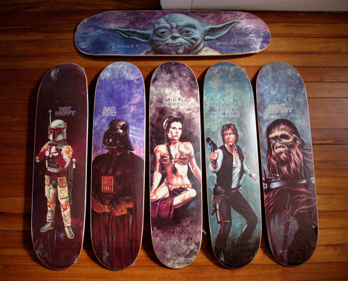 thekingsowl:  Star Wars Skateboard! Awesome!