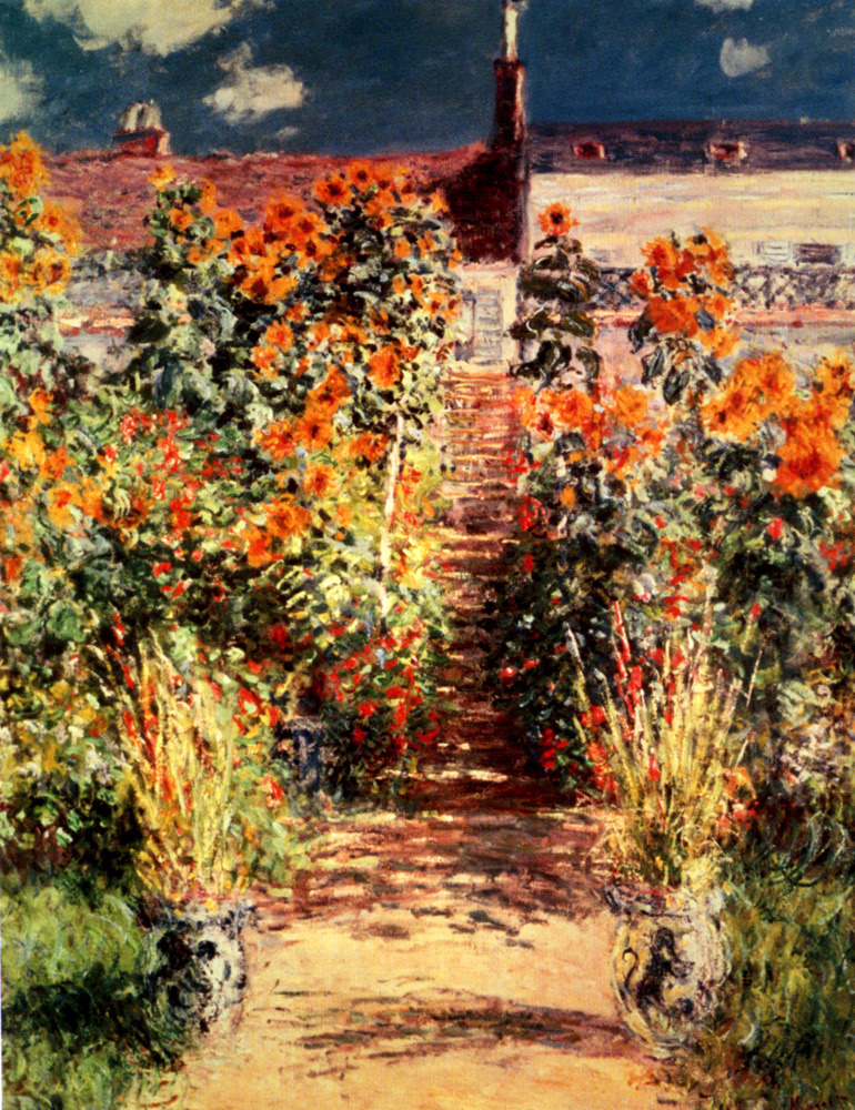 deadpaint:  Claude Monet, The Steps at Vetheuil