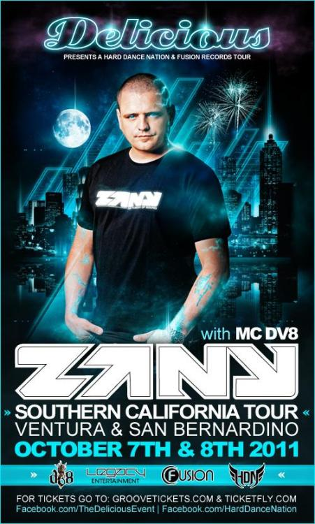 hard-dance-preacher:  cheeze-n-hardstyle:  Zany & MC DV8 Hitting up Cali!!!!!!  HEY SOUTHERN CALIFORNIA, LETS TEAR THIS SHIT UP