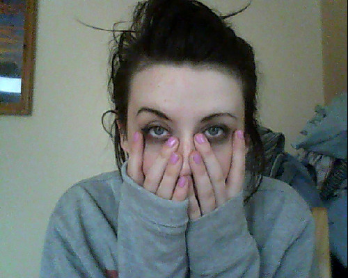 slept with my make up on.STATE.  Looks like Unattractive Thursdays are back.