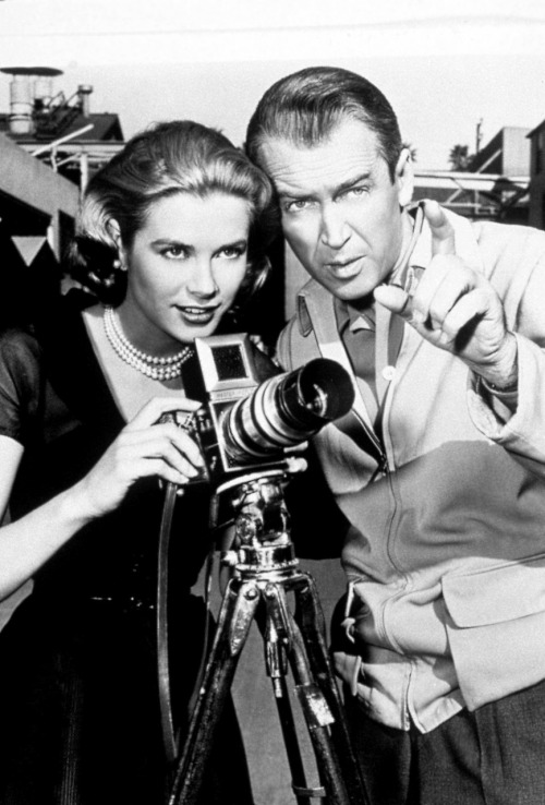 Jimmy Stewart and Grace Kelly(1954)