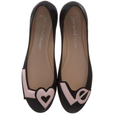 bride2be:   Jean-Michel Cazabat Murita Ballet Flat, Black/Blush reasons to love these shoes: they say LOVE on them cute in pictures they are flats so you can dance the night away not toppling off of towering pumps in front of your closest friends and loved ones just look at them.