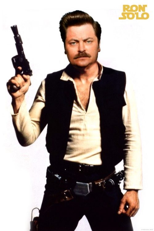Ron Swanson as Han Solo.