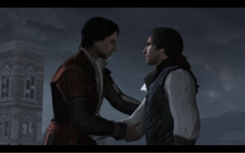 mr-kevin:  Federico: It is a good life we lead, brother. Ezio: The best! May it never change. Federico: And may it never change us. The BEST game intro I've seen in YEARS!