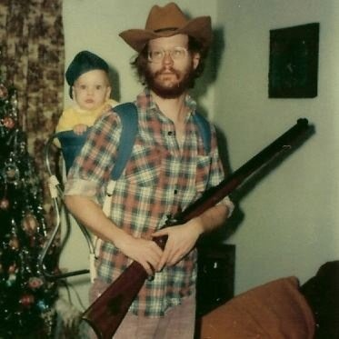 dadsaretheoriginalhipster:  Your dad wore flannel before you did and he still has the Pendleton to prove it. In his woven expression of manliness, he could emasculate Paul Bunyan with his axe swings while effortlessly making the Brawny Man look like a bitch. Each of his lumberjack tops were broken in by adventure, bear boxing matches, shotgun recoils and occasionally baby vomit. He didn't donate his plaids when it was time to retire them from his wardrobe. Instead, he gave them viking funerals to honor the tours of duty they served his upper body and set them ablaze at sea to ensure that no lesser man would ever disgrace his shirts by wearing them.  So hipsters, next time you slide your frail body into the most masculine of woven wools with hopes that it, in combination with your shitty beard, will make you seem more rugged, remember this… Your dad didn't wear flannel to look tough, he wore flannel because it was tough enough to withstand him.  Thanks to Jesse for today's photo.  Keep the submissions coming.