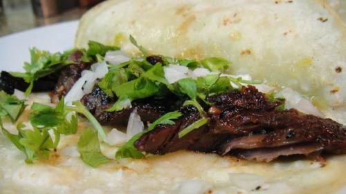 Korean BBQ Steak Tacos