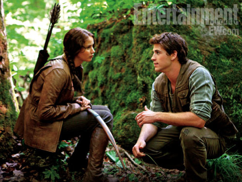 "Director Gary Ross on Liam Hemsworth, here with Jennifer Lawrence as Katniss: ""On first glance he's such a hunk that it's easy to ascribe a hunklike simplicity to him. But this is a phenomenally subtle actor, totally in control of what he was doing."""