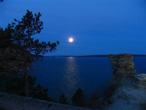 Miner's Castle w full moon (10) (Small) by Michphotog on Flickr.