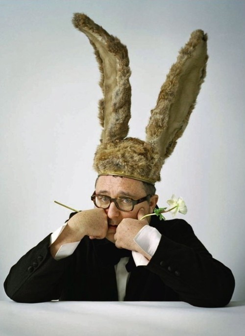 fashionisgreat:   Alber Elbaz in bunny ears by Tim Walker  the-front-row  ランバンの大黒柱!