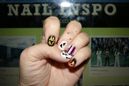 princessjinx:  Just finished my DCI @CarolinaCrown nails. Still messy tho!  stoked for tonight DCI AT THE MOVIES Ready for The Cavaliers, The Cadets, The Blue Devils, The Madison Scouts, Phantom Regiment, and of course CAROLINA CROWN image: my nails for last year's crown show: RachStar  PS see you guys in like six hours or whatever. may be live blogging DCI… but NOONECURRRR