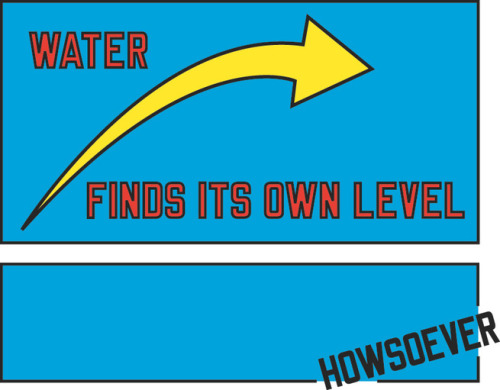 "From today's @20x200 newsletter: WATER FINDS ITS OWN LEVEL HOWSOEVER is our second edition from LAWRENCE WEINER, a man who lives up to his ALL CAPS expectations. With the ocean a mere few feet away from the living room window, we've been doing a lot of tide-tracking here on the Oregon coast, and I've had ample opportunity to contemplate the ""kindred constancy"" shared by various bodies of water that I referred to in yesterday's newsletter about Chikara Umihara's new edition. How nice, then, to round out this week with the source of said constancy—namely, water's own-level-seeking ways."