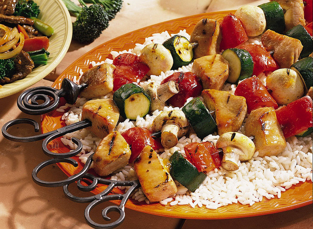 Grilled Pork Kabobs Recipe by Pillsbury.com on Flickr.