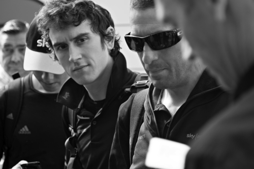 fabbricadellabici:  Faces at Grenoble airport: Geraint Thomas