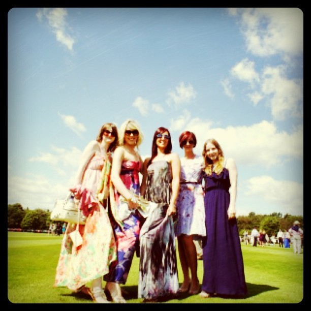 beautiful ladies at the polo (Taken with instagram)