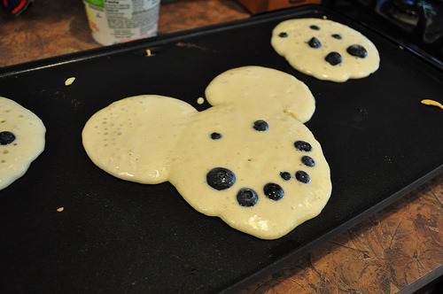 my grandpa pike used to make me mickey mouse pancakes, loved them.